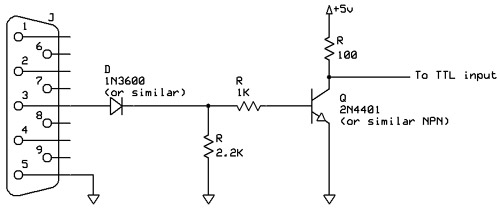 rs232 to ttl conversion circuit (transmit only)